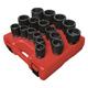 Sunex Tools 4683 17-Piece 3/4 in. Drive SAE Heavy-Duty Impact Socket Set