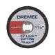 Dremel EZ476 EZ Lock 1-1/2 in. Cut-Off Wheels for Plastic (5-Pack)