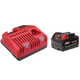Milwaukee 48-59-1840 M18 18V REDLITHIUM XC 4.0 Ah Lithium-Ion Battery with Multi-Voltage Charger System Starter Kit