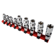 Sunex 9912 9-Piece 1/4 in. Drive SAE Universal Star Socket Set