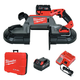 Milwaukee 2729-22 M18 FUEL Cordless Lithium-Ion Deep Cut Band Saw with 2 XC 5.0 Ah Batteries
