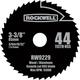 Rockwell RW9229 VersaCut 3-3/8 in. 44T HSS Circular Saw Blade