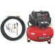 Porter-Cable C2002-WK 0.8 HP 6 Gallon Oil-Free Pancake Air Compressor with 13 Piece Hose and Accessory Kit