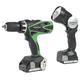 Hitachi DV18DSFL 18V Cordless HXP Lithium-Ion 1/2 in. Hammer Drill Kit with Flashlight