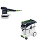 Festool P48571916 6 in. Random Orbital Finish Sander with CT 48 E 12.7 Gallon HEPA Dust Extractor