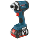 Factory Reconditioned Bosch IDS181-01-RT 18V Compact Tough 1/4 in. Hex Impact Driver with 2 HC FatPack Lithium-Ion Batteries