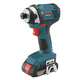 Factory Reconditioned Bosch IDS181-02-RT 18V Compact Tough 1/4 in. Hex Impact Driver with 2 HC SlimPack Batteries