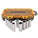 Dewalt DWMT73815 10-Piece Stackable 1/2 in. Deep Drive Socket Set (Metric)