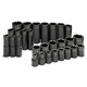 SK Hand Tool 4051 28-Piece 1/2 in. Drive 6-Point SAE Standard/Deep Impact Socket Set