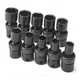 SK Hand Tool 33351 10-Piece 3/8 in. Drive 6-Point Metric Swivel Impact Socket Set