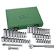 SK Hand Tool 94547-12 47-Piece 3/8 in. Drive 12-Point SAE/Metric Standard/Deep Socket Set with Pro Ratchet