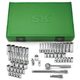SK Hand Tool 91860 60-Piece 1/4 in. Drive 6-Point SAE/Metric Standard/Deep Socket Set with Pro Ratchet & Universal Joint