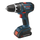 Bosch DDS180-02 18V Cordless Lithium-Ion Compact Tough 1/2 in. Drill Driver Kit with 2 Slim Pack Batteries