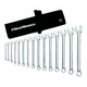 GearWrench 81918 15-Piece 12-Point SAE Long Pattern Combination Wrench Set