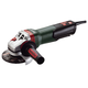 Metabo 600428420 10.5 Amp 5 in. Angle Grinder with Brake/Non-Locking Paddle Switch