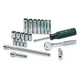 SK Hand Tool 89009 21-Piece 1/4 in. Drive 6 Point Standard/Deep Metric Socket and Ratchet Set