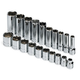 SK Hand Tool 89040 20-Piece 3/8 in. Drive 6 Point Standard/Deep/Extra Long SAE Socket Set