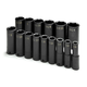 SK Hand Tool 4045 15-Piece 1/2 in. Drive 6-Point SAE Deep Impact Socket Set