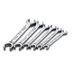 SK Hand Tool 376 6-Piece SuperKrome Metric Flare Nut 6 Point Wrench Set
