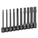 Grey Pneumatic 1360H 10-Piece 1/2 in. Drive 6 in. SAE Hex Impact Drive Socket Set