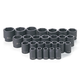 Grey Pneumatic 1326M 26-Piece 1/2 in. Drive 6-Point Metric Master Standard Impact Socket Set