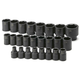 SK Hand Tool 4037 25-Piece 1/2 in. Drive 6 Point Standard Metric Impact Socket Set
