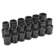 Grey Pneumatic 1713UM 13-Piece 1/2 in. Drive 12-Point Metric Universal Impact Socket Set