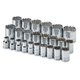 SK Hand Tool 1924 24-Piece 1/2 in. Drive 12 Point Standard Metric Socket Set