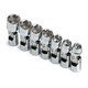 SK Hand Tool 4607 7-Piece 3/8 in. Drive 6-Point SAE Flex Socket Set