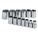 SK Hand Tool 4113-6 13-Piece 1/2 in. Drive 6-Point SAE Standard Socket Set