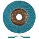 Metabo 624358000-10 7 in. ZA60 Type 27 Zirconia Alumina Flap Discs (10-Pack)