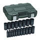 Grey Pneumatic 1719D 19-Piece 3/8 in. to 1-1/2 in. Drive 12-Point SAE Impact Socket Set
