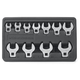 GearWrench 81908 11-Piece 3/8 in. Drive SAE Crowfoot Non-Ratcheting Wrench Set