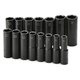 SK Hand Tool 4048 15-Piece 1/2 in. Drive 6 Point Deep Metric Impact Socket Set