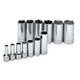 SK Hand Tool 4413 13-Piece 3/8 in. Drive 6-Point SAE Deep Socket Set