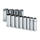 SK Hand Tool 4822 12-Piece 1/2 in. Drive 6-Point SAE Deep Socket Set