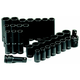Grey Pneumatic 1430MRD 30-Piece 1/2 in. Drive 6-Point Metric Standard and Deep Impact Socket Set