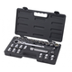 GearWrench 891226 25-Piece 1/2 in. Drive SAE/Metric Pass-Thru Vortex Ratchet Set with Locking Flex GearRatchet Handle