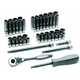 Grey Pneumatic 89653CRD 53-Piece 1/4 in. Drive 6-Point SAE/Metric Standard and Deep Duo-Socket Set