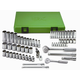 SK Hand Tool 94562 62-Piece 6-Point 3/8 in. and 1/4 in. Drive Standard and Deep Socket Set