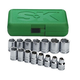 SK Hand Tool 1955 15-Piece 1/2 in. Drive 6 Point Standard Metric Socket Set