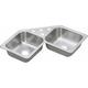 Elkay DE217323 20-Gauge Stainless Steel 31.875 x 31.875 x 7 in. Double Bowl Top Mount Kitchen Sink