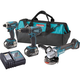 Makita XT324 18V LXT Cordless Lithium-Ion 2-Piece Kit with Free Brushless Grinder