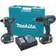 Makita XT211M 18V 4.0 Ah LXT Cordless Lithium-Ion Hammer Drill-Driver and Impact Driver Combo Kit