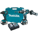 Makita XT257M 18V LXT Cordless Lithium-Ion Brushless Hammer Drill-Driver and Impact Driver Combo Kit