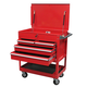 Sunex Tools 8054 4-Drawer Service Cart with Locking Top (Red)