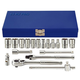 KT PRO A2504SR 18-Piece 1/4 in. Drive 6/8-Point SAE Standard and Square Socket Set