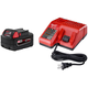 Milwaukee 48-59-1850 M18 18V REDLITHIUM XC 5.0 Ah Lithium-Ion Battery with Multi-Voltage Charger System