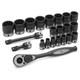 Grey Pneumatic 82222 22-Piece 1/2 in. Drive 12-Point SAE Standard Impact Duo-Socket Set