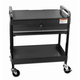 Sunex Tools 8013ABK Service Cart with Locking Top and Drawer (Black)